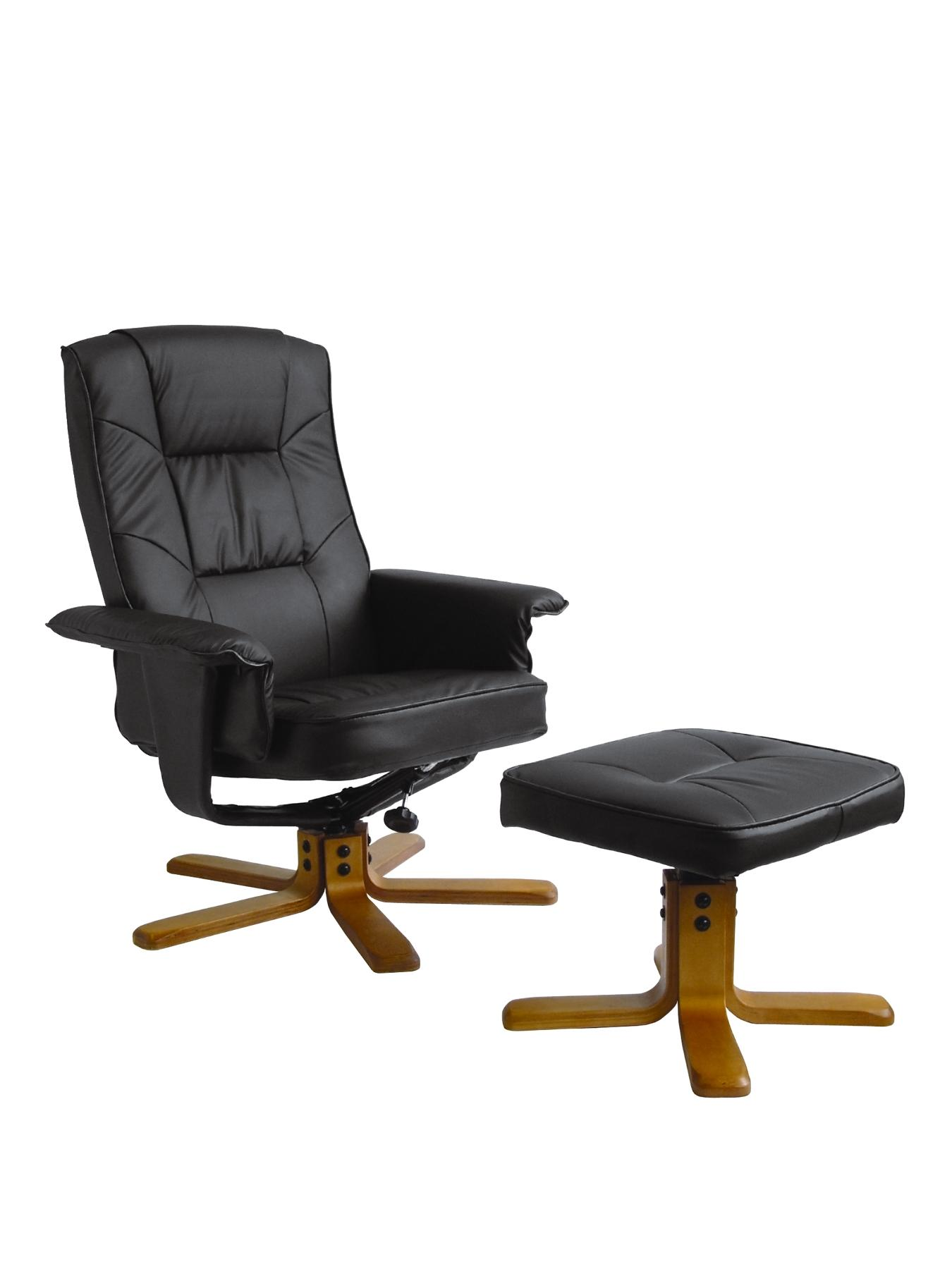 Drake Reclining Office Chair with Matching Footstool, Cream,Black,Brown