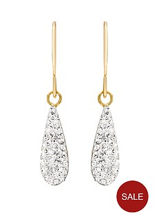 love-gold-9-carat-yellow-gold-crystalique-teardrop-earrings