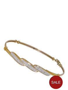 love-diamond-9-carat-yellow-gold-23-point-diamond-crossover-flexi-bangle