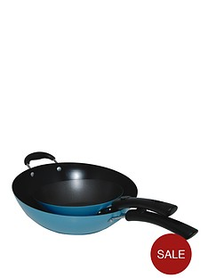 typhoon-living-115-inch-non-stick-wok-with-free-8-inch-wok