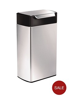 simplehuman-40-litre-touch-bar-bin-brushed-steel