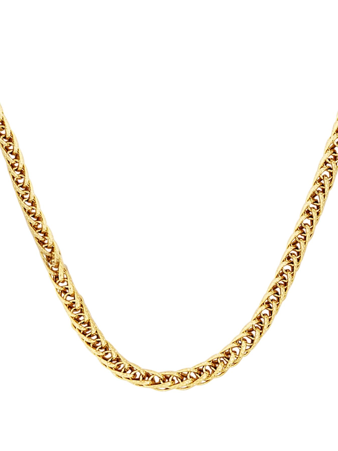 9 Carat Yellow Gold Fancy Wheatchain Chain.
