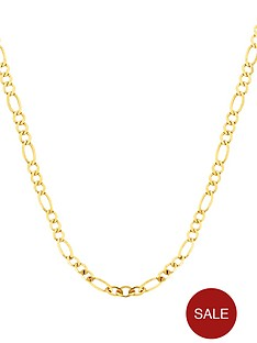 love-gold-9-carat-yellow-gold-solid-diamond-cut-figaro-chain-18in
