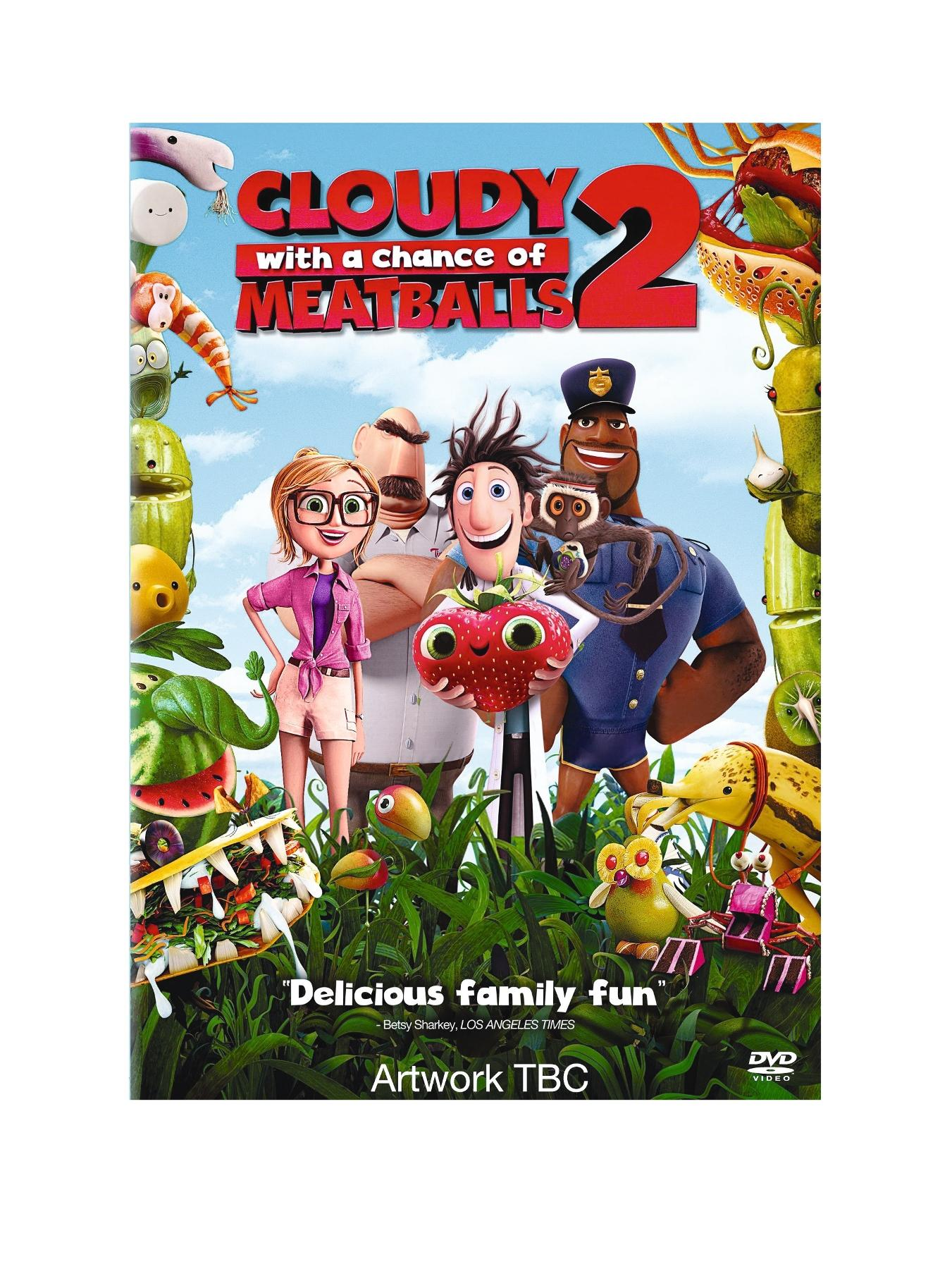 Cloudy With A Chance Of Meatballs 2 DVD - Includes FREE scratch and sniff stickers