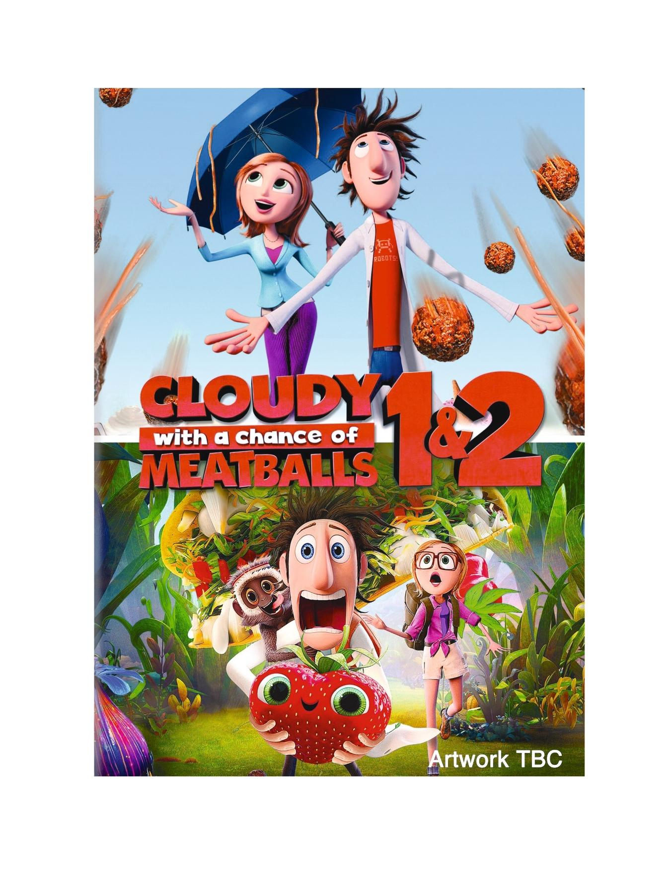 Cloudy With A Chance Of Meatballs 1-2 DVD - Includes FREE scratch and sniff stickers
