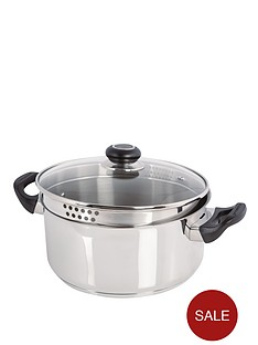morphy-richards-24cm-casserole-dish-with-lid-stainless-steel