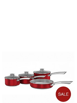 morphy-richards-pan-set-4-piece-red