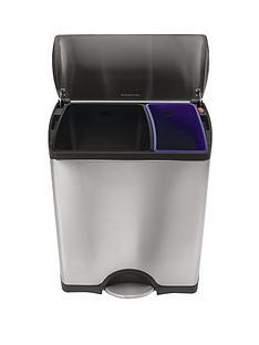 simplehuman-rectangular-recycler-3016-litre-bin
