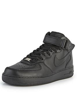nike-air-force-1-mid-trainers-black