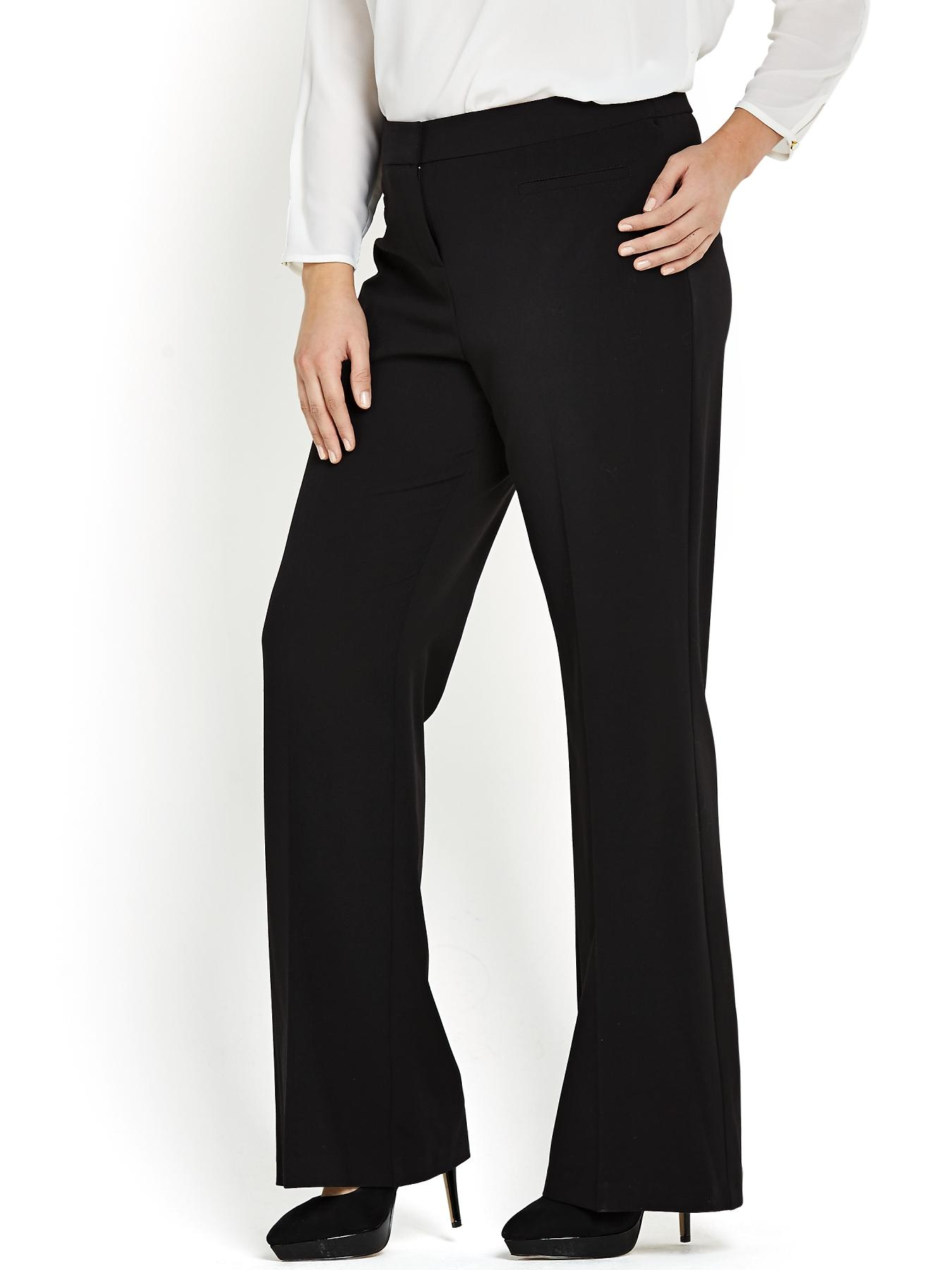Bootcut Trousers, Black
