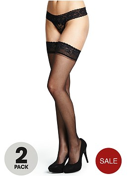 love-label-lace-top-hold-ups-2-pack