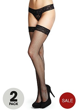 love-label-lace-top-fishnet-hold-ups-2-pack