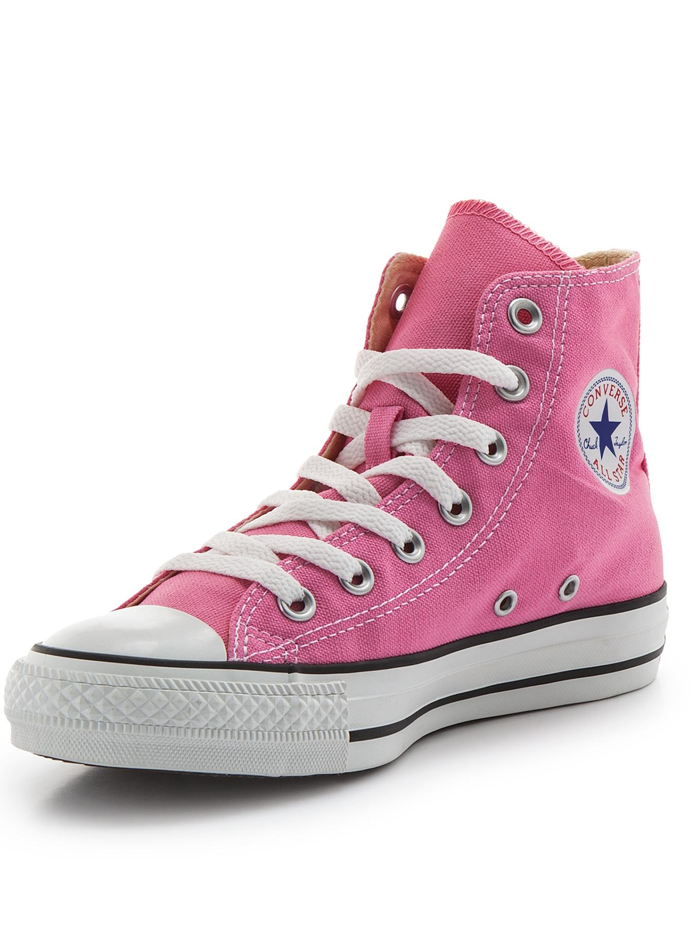 Chuck Taylor All Star Canvas Hi-Top Plimsolls, Pink