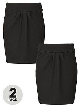top-class-girls-school-uniform-jersey-tulip-skirts-2-pack