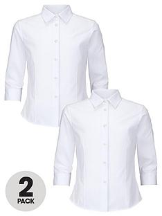 top-class-girls-three-quarter-sleeve-shirts-2-pack