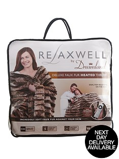 dreamland-relaxwell-faux-fur-heated-throw-chocolatenatural