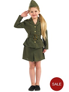 girls-ww2-army-girl-child-costume