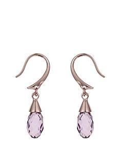 aurora-swarovski-elements-18-carat-rose-gold-plated-pink-drop-earrings