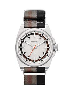 diesel-sc2-blackgreenbrown-stripes-canvas-strap-mens-watch