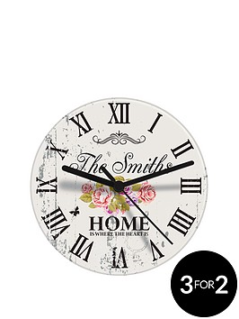personalised-shabby-chic-floral-clock