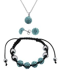 rhodium-plated-aqua-crystal-beaded-bracelet-necklace-and-earrings-gift-set