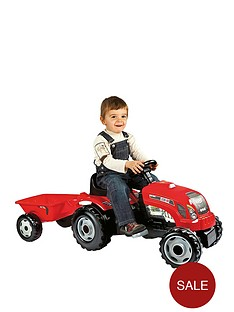 smoby-red-tractor-with-trailer