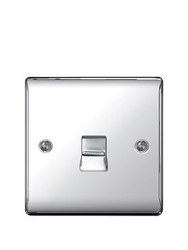 british-general-electrical-raised-telephone-socket-point-polished-chrome