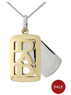 love-silver-sterling-silver-with-9-carat-gold-overlay-dad-tag-pendant