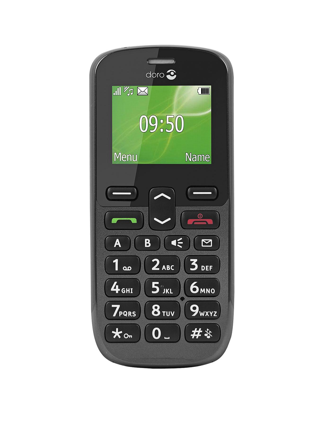 PhoneEasy 508 Mobile Phone - Black at Littlewoods