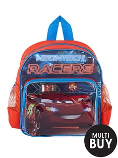 disney-cars-neon-backpack-with-stationery