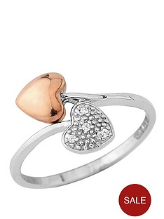 little-mistress-silver-and-rose-gold-plate-heart-ring