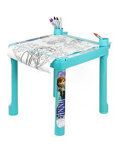disney-frozen-colouring-table