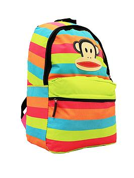 paul-frank-multicolour-stripe-backpack