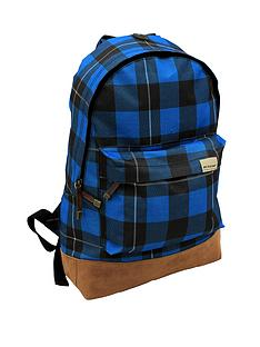 dunlop-blue-check-backpack