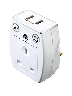 masterplug-surge-plug-through-adaptor-with-2x-usb-charge-outputs-white