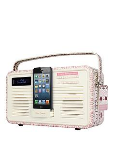 view-quest-emma-bridgewater-retro-dab-radio-with-8-pin-lightning-dock--pink