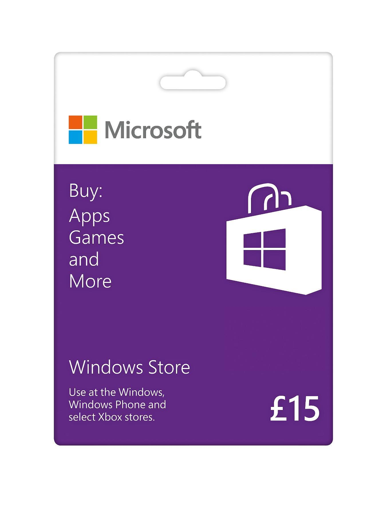Windows Store Gift Card £15 at Littlewoods