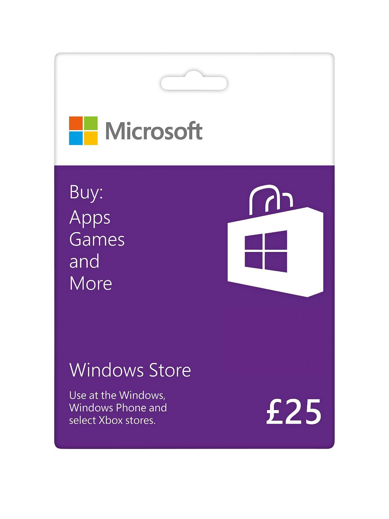 Windows Store Gift Card £25 at Littlewoods