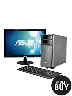 asus-m32bf-amd-a6-processor-6gb-ram-1tb-hard-drive-wi-fi-with-185-inch-monitor-desktop-bundle-with-optional-micrsosoft-office-365-personal-silver
