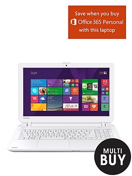 toshiba-l50-b-1qu-intelreg-corereg-i5-processor-6gb-ram-750gb-hard-drive-wi-fi-156-inch-laptop-with-optional-microsoft-office-365-personal-white