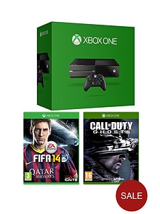 xbox-one-console-with-call-of-duty-ghosts-fifa-14-extra-controller-and-optional-3-or-12-months-xbox-live