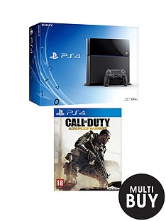 playstation-4-console-with-call-of-duty-advanced-warfare-and-optional-3-or-12-months-playstation-plus