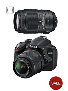 nikon-d3200-242-megapixel-digital-slr-camera-with-18-55mm-vr-ii-and-55-300vr-twin-lens-kit