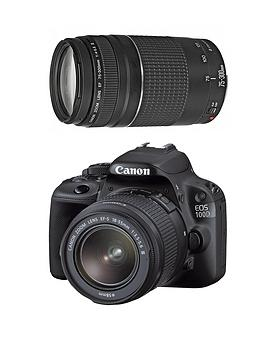 Canon CANON 100D TWIN LENS KIT 1855mm STM & 75300mm 18MP Camera