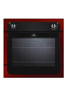 new-world-nw601f-60cm-electric-fanned-oven-red-metallic