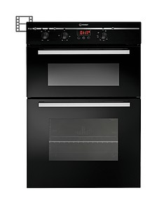 indesit-fimd23bks-60cm-built-in-electric-double-oven-black