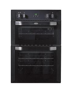 belling-bi90mf-60cm-built-in-multifunction-double-electric-oven-black