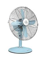 SFA1010 12 Inch Retro Desk Fan - Blue