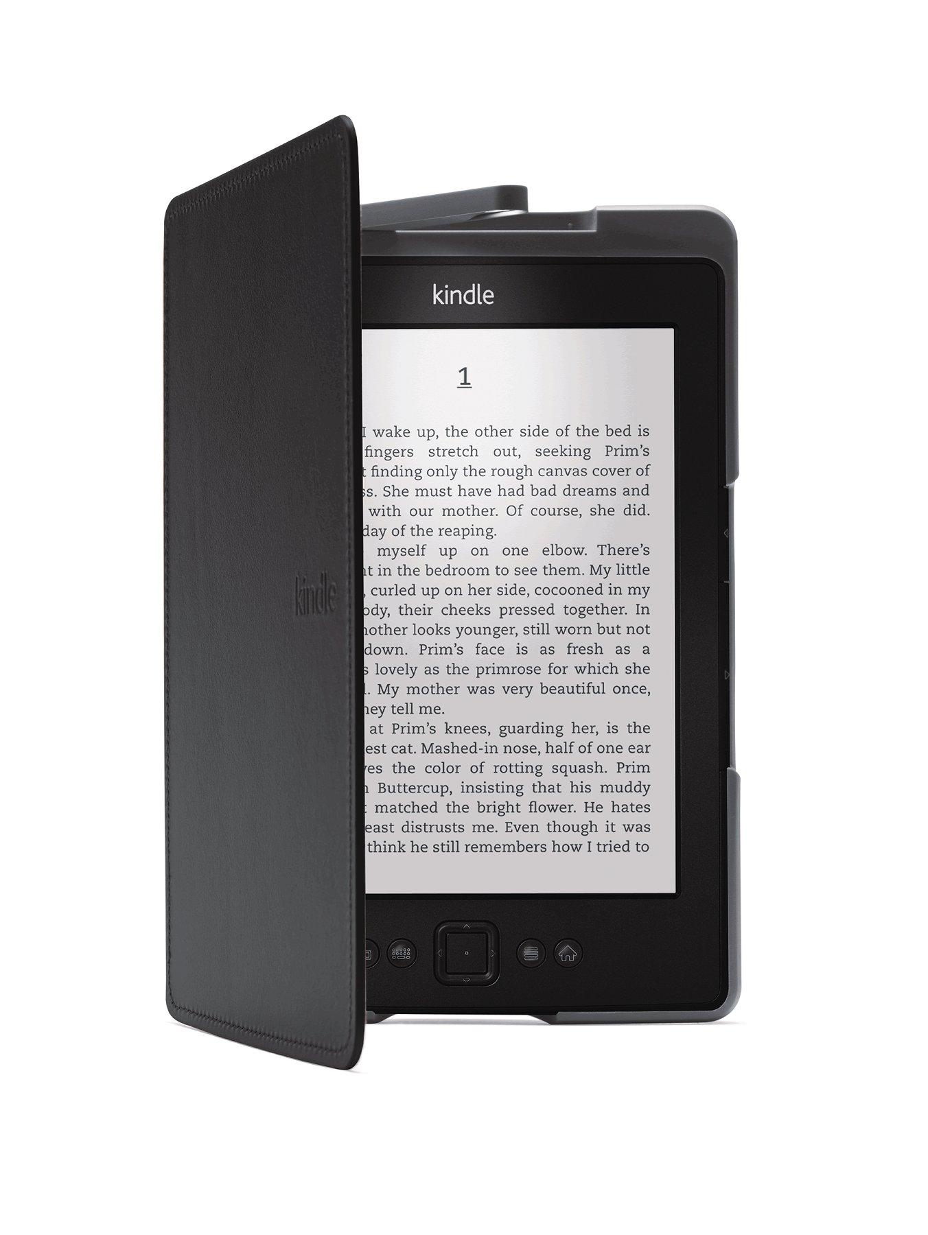 Lighted Leather Cover for 6 Kindle- Black