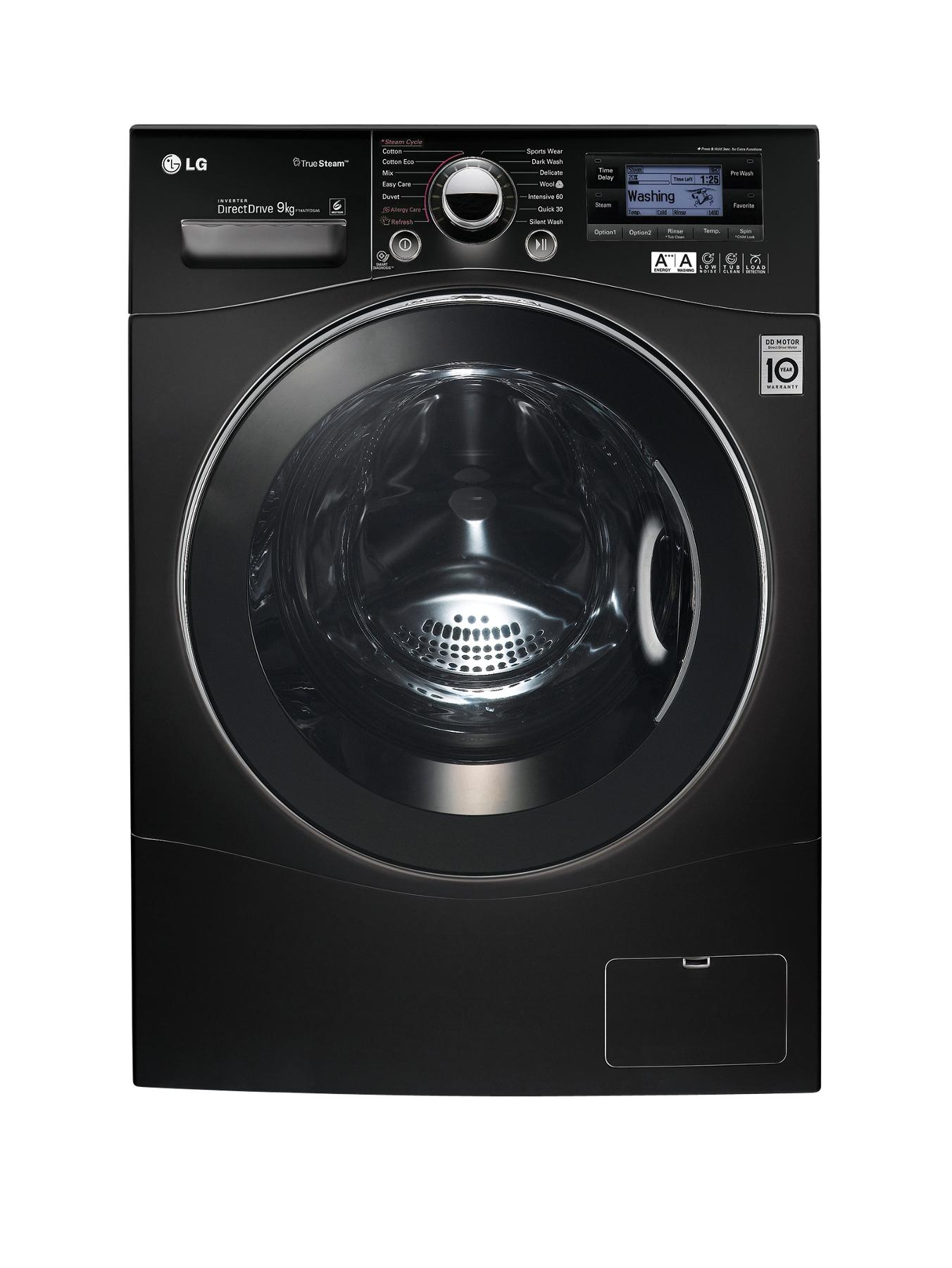 F14A7FDSA6 9kg Load, 1400 Spin Washing Machine - Black